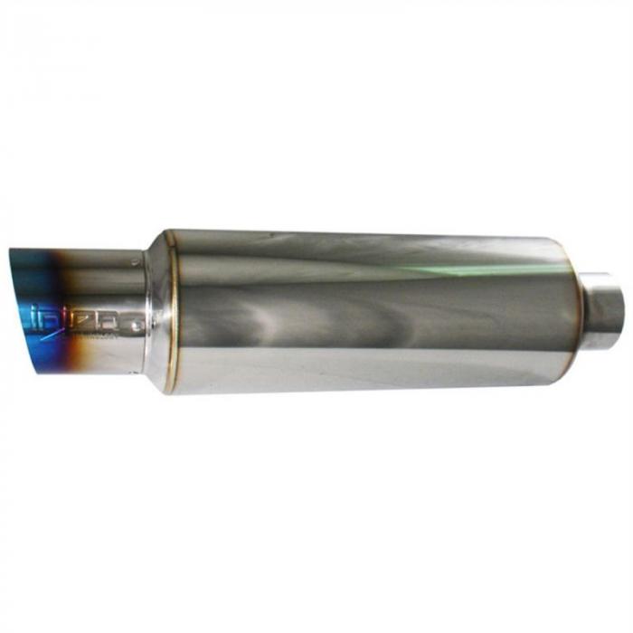 Injen Technology - Injen 60MM Universal Muffler w/ Titanium Burnt Tip