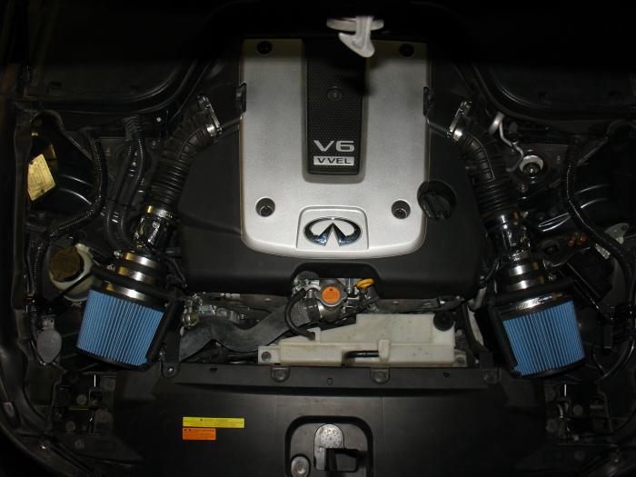 BLACK fit 2008-2013 INFINITI G37 3.7 3.7L DUAL COLD AIR INTAKE KIT SYSTEMS