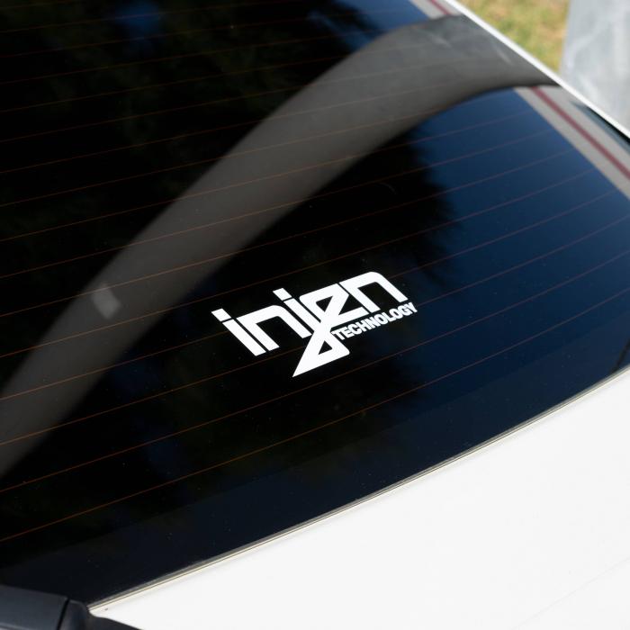 Injen Technology - Injen White Die-Cut Decal