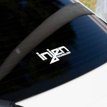 Injen Technology - Injen White Die-Cut Decal - Image 1